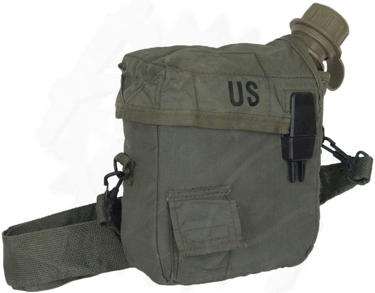 US Military 2 Qt. Collapsible Water Canteen with Cover