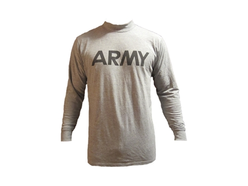 Army PT Gear Long Sleeve T-Shirt - Grey