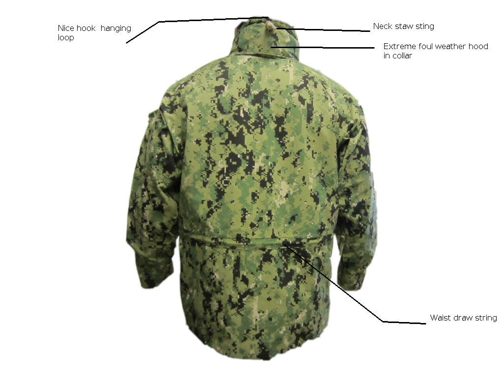 U S Navy Gortex Working Uniform Parka Aorii Type Iii Woodland Digital